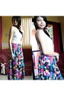 Mango-top-colorful-skrits-skirt
