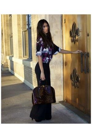 bell bottom Victorias Secret pants - oxblood alma gm Louis Vuitton purse