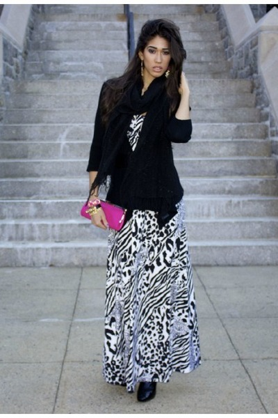 animal print XOXO dress - croc print Guess boots - pink clutch ann taylor bag