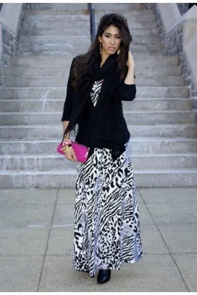 animal print XOXO dress - croc print Guess boots - pink clutch ann taylor bag