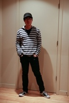 Zara hat - Zara sweater - Zara jeans - Converse shoes