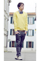 schmoove shoes - Ralph Lauren sweater - bow tie American Apparel accessories