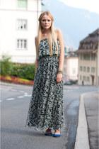 charcoal gray long dress Isabel Lu dress