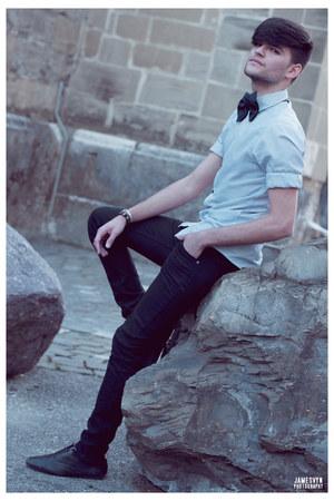 black bow tie lavin loves h&m accessories