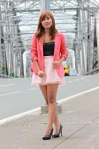 Forever21 blazer - Forever21 blouse - Forever21 skirt - R&G heels