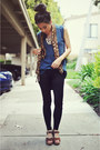 Black-forever-21-leggings-cheetah-print-vintage-scarf-leather-satchel-michae