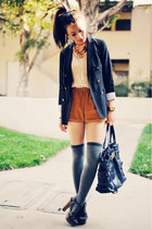 Gap blazer - heels Forever 21 shoes - pleated peach free people shirt