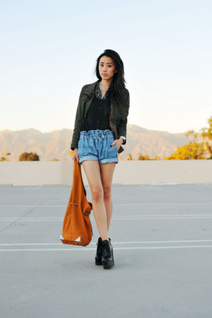 army green army anorak 2020AVE jacket - sam edelman boots - Alexander Wang bag