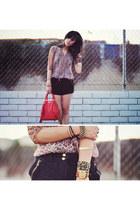 red leather satchel Rebecca Minkoff bag
