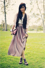 Dark-brown-forever-21-shoes-maroon-clutch-vintage-bag-off-white-dress-worn-a