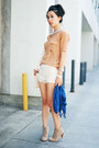 Lace-up-tan-forever-21-boots-blue-style-rev-scarf-romwe-bag