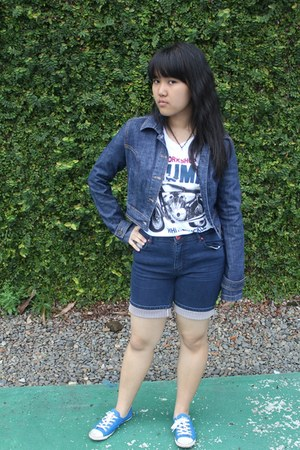 denim jacket Mango jacket - Converse sneakers