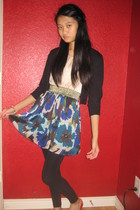 jacket - Forever 21 dress - Express tights - Charlotte Russe shoes