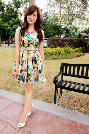 lime green floral apartment 8 dress