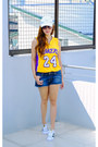 Gold-lakers-jersey-nba-store-top-white-superstar-sneakers