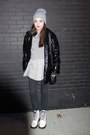 White-dr-martens-boots-silver-american-apparel-hat