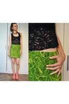 chartreuse Never Enough skirt