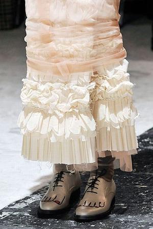 beige Comme des Garcons shoes