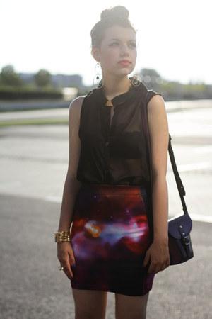 romwe skirt - vintage blouse