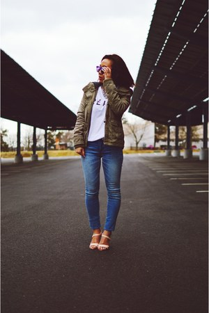 abercrombie and fitch jeans - Aritzia jacket - Wildfox sunglasses