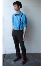 black Urban Outfitters accessories - black bow tie handmade accessories