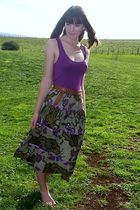 supre t-shirt - made by me  skirt - mums  belt