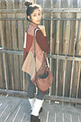 Maroon-the-boutique-simi-valley-ca-sweater-black-steve-madden-wedges