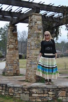 skirt - black Moth for Anthropologie cardigan - black Target shirt - black simpl