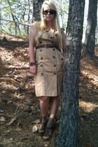 dark khaki Anthropologie dress