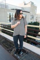 H&M t-shirt - devon rag & bone boots - Zara jeans