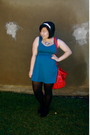 Blue-urban-outfitters-dress-red-urban-outfitters-purse-black-target-tights-