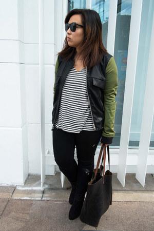 newbury rag & bone boots - Zara jeans - UNIF jacket - Project Social T t-shirt