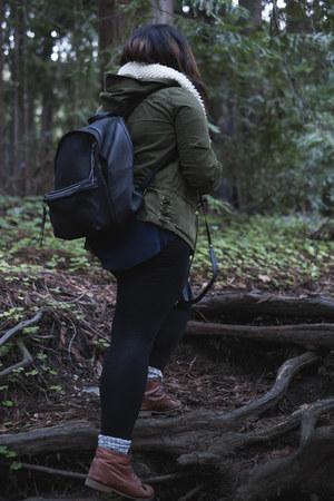 Topshop boots - Zara jacket - Nordstrom scarf - madewell bag - Wigwam socks