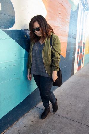 Zara jeans - Dolce Vita boots - Zara jacket - Mansur Gavriel bag
