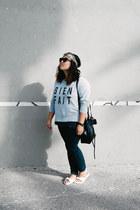 Zara jeans - mini bucket Mansur Gavriel bag - bien fait madewell sweatshirt