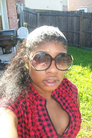 blouse - sunglasses