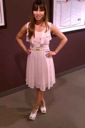 dress h&m dress dress - shoes ZARA WHITE SHOES heels