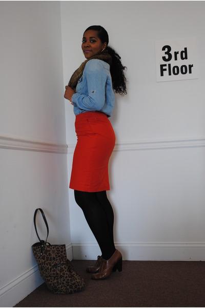 Target skirt - Target bag - Target top - STYLE AND CO heels