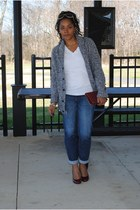 new york & co jeans - Old Navy sweater - Jessica Simpson heels