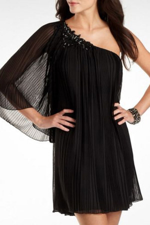 black pleating Bisou Bisou dress