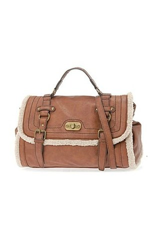 light brown shearling Call it Spring bag