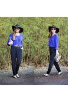 black Charlotte Russe jumper - floppy hat Forever 21 hat - knitted H&M top