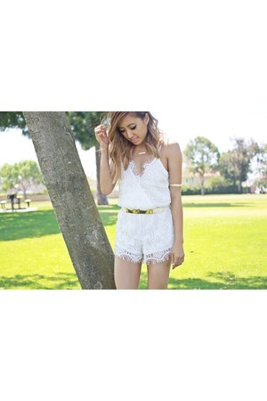 white lace Luna Boutique romper
