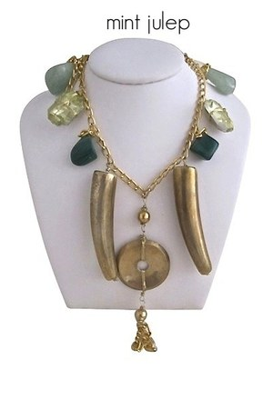lime green Jean Joaillerie necklace