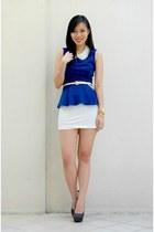 white peplum sabrina skirt