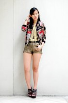 ruby red printed Forever 21 jacket