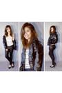 Leather-jacket-miley-cyrus-x-max-azria-jacket-leather-pants-f21-pants