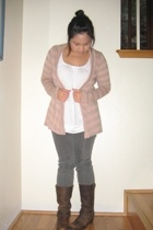 Nordstrom sweater - forever 21 shirt - Urban Outfitters jeans - Frye boots