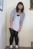 H&M jacket - American Apparel t-shirt - leggings - creative recreation shoes