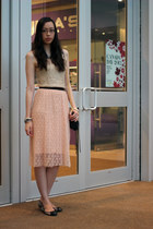 peach lace M for Mendocino skirt - mac mini Rebecca Minkoff bag